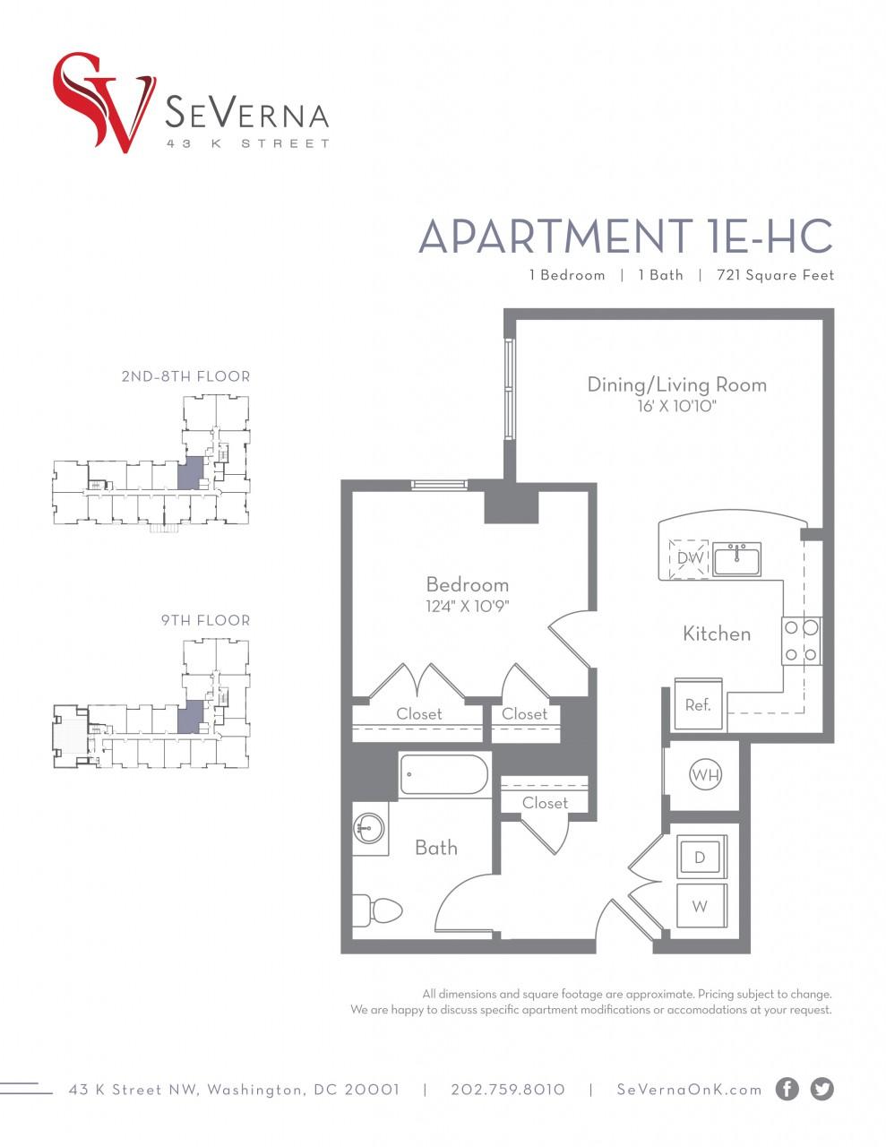 100 Floor Plans Washington Dc Apartments Studio 1