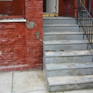 271 S Cecil -Front Steps-March 14, 2007