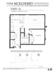 1234 McElderry Floor Plan - 1 Bedroom