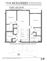 1234 McElderry Floor Plan - 2 Bedroom