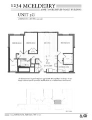 1234 McElderry Floor Plan - 3 Bedroom
