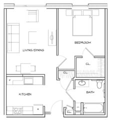 Apartments at New Market West: 1 Bedroom - Unit Type A