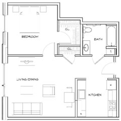 Apartments at New Market West: 1 Bedroom - Unit Type B
